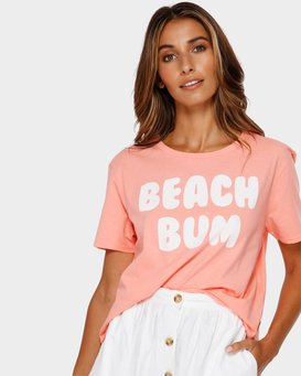 BEACH BUM CROP TEE  J990TBBR