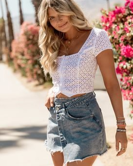 THE WRAP DENIM SKIRT  JK10SBWR