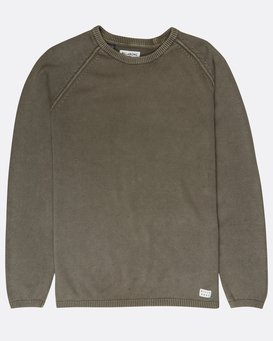 Wave Washed Raglan Sweater  L1JP02BIF8