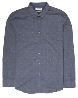 All Day Jaquard Long Sleeve Shirt  L1SH10BIF8