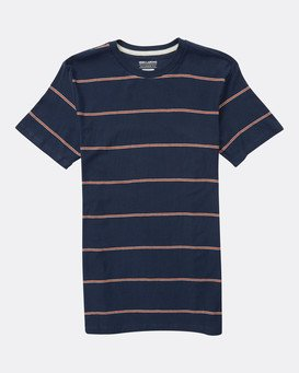 Boys Die Cut Stripe Jersey T-Shirt  L2JE01BIF8