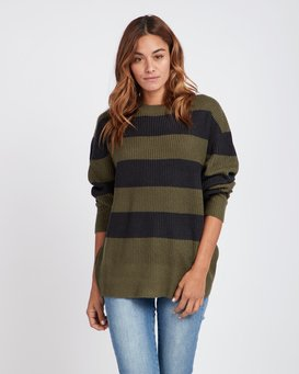 Late Night Striped Oversize Knitted Sweater  L3JP03BIF8