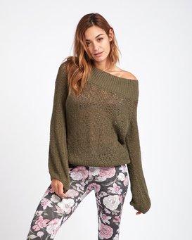 Rolled Up Off-The-Shoulder Sweater  L3JP11BIF8