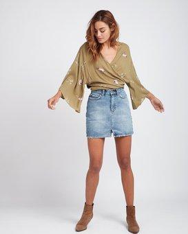 Black Magic Slim Fit Denim Skirt  L3SK02BIF8