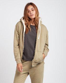 Essential Loose Fit Sherpa Lined Zip Hoodie  L3ZH02BIF8