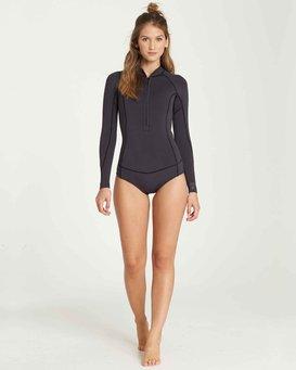 2/2 Salty Dayz Long Sleeves Chest Zip Springsuit Wetsuit  L42G02BIF8
