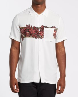 STUBBIES FLORAL SS SHIRT  M5001BZR