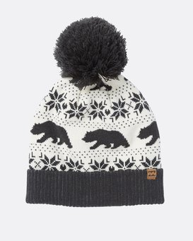 Winter Bear Pom Pom Beanie  M9BN01BIW8