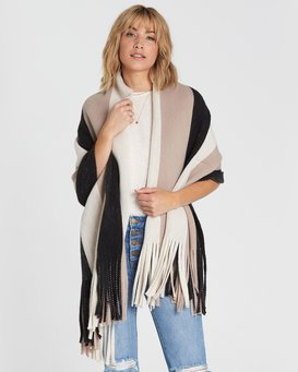On The Fringes Striped Scarf  M9SC01BIW8