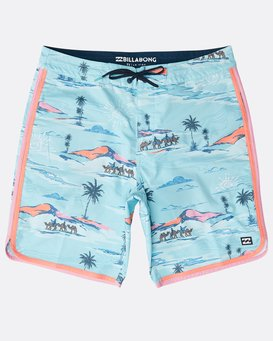 "73 Lineup Lo Tides 18"" Boardshorts  N1BS22BIP9"