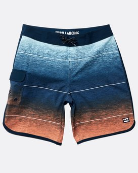 Boys' 73 Stripe Pro Boardshorts  N2BS02BIP9