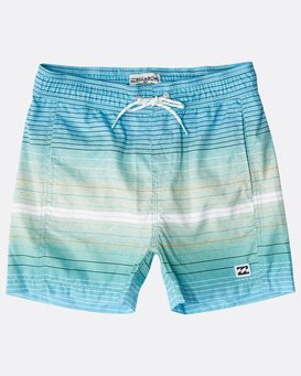Boys' All Day Stripes Layback Boardshorts  N2LB05BIP9