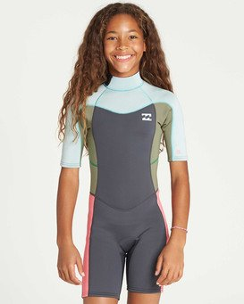 Girls' 2Mm Synergy Back Zip Springsuit  N42B07BIP9