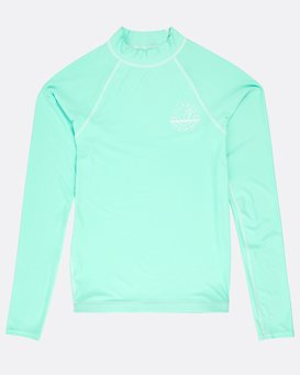 Girls' Logo Long Sleeve Rashguard  N4KY02BIP9