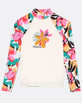 Girls' Flower Long Sleeve Rashguard  N4KY04BIP9