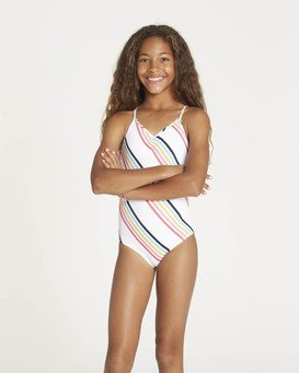 Girls' Seeing Rainbows One Piece Swimsuit  N8SW05BIP9