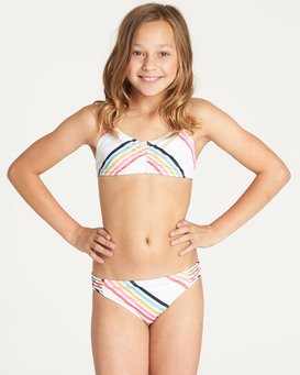 Girls' Seeing Rainbows Tali Bikini Set  N8SW07BIP9