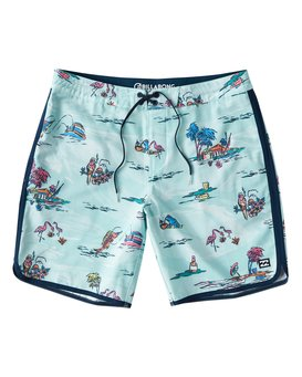 "73 Lineup Lo Tides 18"" Boardshorts  P1BS11BIS9"