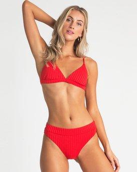 Sunny Rib Triangle Bikini Top  P3ST71BIMU