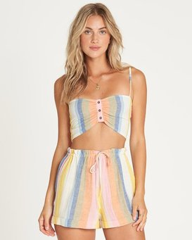 Double Rainbow High-Waisted Shorts  P3WK21BIMU