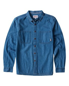 97 Workwear - Denim Long Sleeves Shirt for Men  Q1SH08BIF9