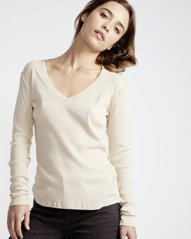 Organic - Long Sleeves Tee Shirt for Women  Q3LS02BIF9
