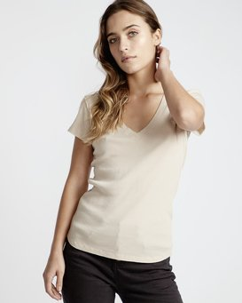 Organic - Short Sleeves Tee Shirt for Women  Q3SS02BIF9