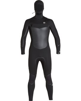 5/4mm Furnace Abs X Hd - Abs Chest Zip Hood Wetsuit for Men  Q45M08BIF9