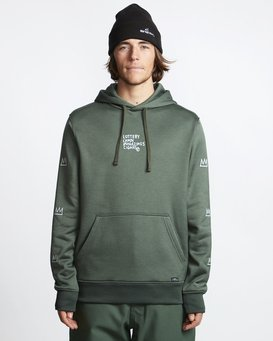 Basquiat - Thermal Fleece Hood for Men  Q6HO01BIF9