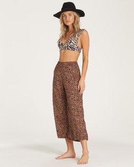 Wild Heartbeats - Elasticated Cropped Trousers  R3PT01BIW9