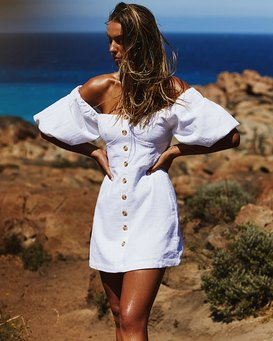 WHITE SAND DRESS  S3DR48BIMU