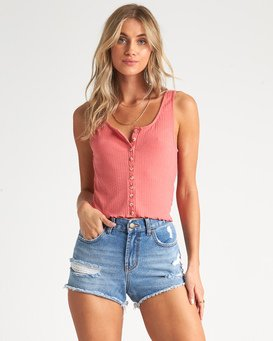 Find A Way - Rib Knit Tank Top for Women  S3KT05BIP0