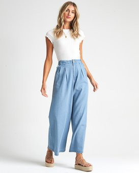 Big Trip Indigo - High Waisted Chambray Trousers for Women  S3PN04BIP0