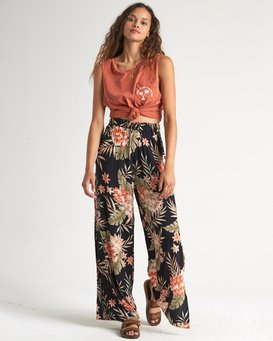 Falling Sun - Viscose Trousers for Women  S3PT10BIP0