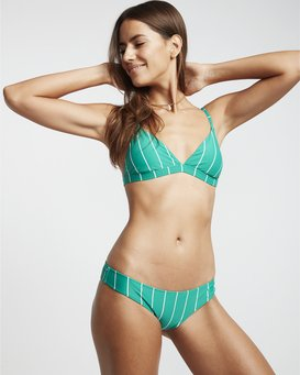 Emerald Bay Fix Tri - Striped Triangle Bikini Top for Women  S3ST25BIP0