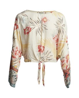 Back Round - Printed Blouse for Women  S3TP04BIP0