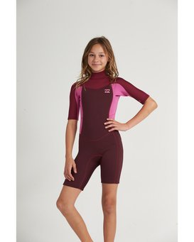2/2 Synergy FL - Short Sleeve Back Zip Springsuit for Teen Girls  S42B50BIP0