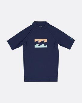 Team Wave - Short Sleeve UPF 50 Rash Vest for Boys  S4KY11BIP0