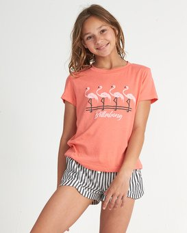 Flamingos In Pink - Graphic T-Shirt for Teen Girls  S8SS04BIP0