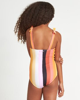 Sunset Glow 1 Pc - Striped One Piece Swimsuit for Teen Girls  S8SW06BIP0