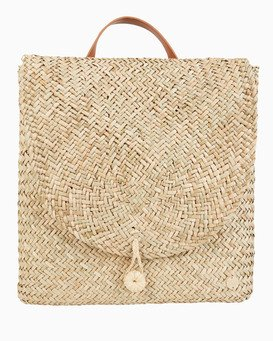 Changing Tides - Large Straw Backpack for Women  S9BG30BIMU