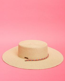 Under The Sun - Straw Boat Hat for Women  S9HT04BIMU