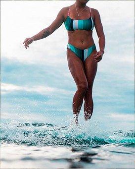 Sol Stripes - Crop Bikini Top for Women  T3ST18BIS0