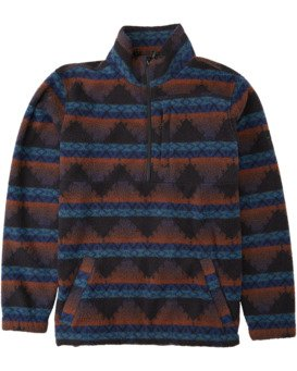 Adventure Division Collection Boundary Mock Neck - Mock Neck Fleece for Men  U1FL35BIF0