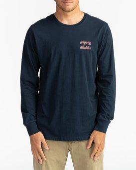 Crayon Wave - Long Sleeve T-Shirt for Men  U1LS26BIF0