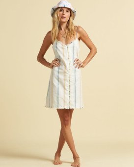 Salty Blonde Sunny Stripes - Slip Dress for Women  U3DR31BIF0