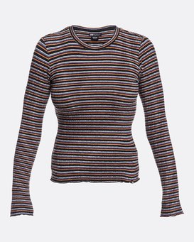 Seventies Stripes - High Neck Top for Women  U3KT03BIF0