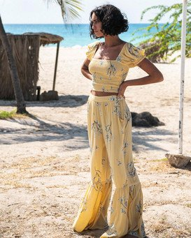 Another Sun Honeysuckle - Crop Top for Women  U3TP42BIMU