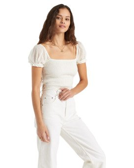 Fade To White Honeysuckle - Crop Top for Women  U3TP43BIMU