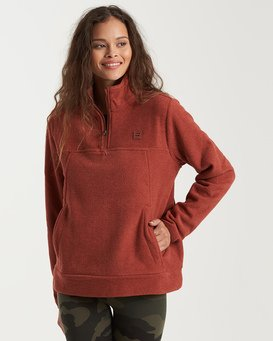 Adventure Division Collection Boundary Mock Half Zip - Fleece for Women  U3WA17BIMU